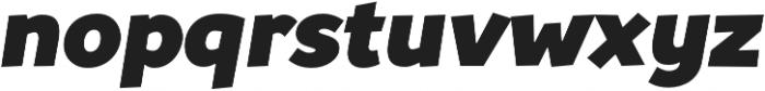 Souses Black Italic otf (900) Font LOWERCASE