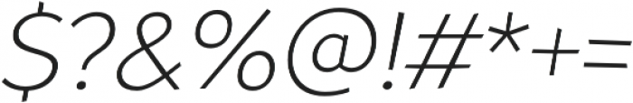 Souses Light Italic otf (300) Font OTHER CHARS