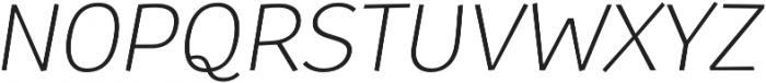 Souses Light Italic otf (300) Font UPPERCASE