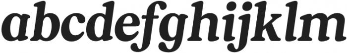 South Belgian Italic otf (400) Font LOWERCASE