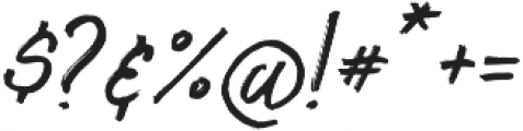 South Mind Alt Sloped otf (400) Font OTHER CHARS