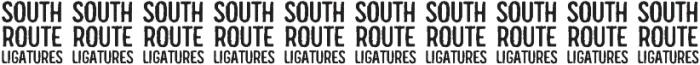 South Route Regular Ligatures otf (400) Font OTHER CHARS