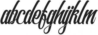 Southamton otf (400) Font LOWERCASE