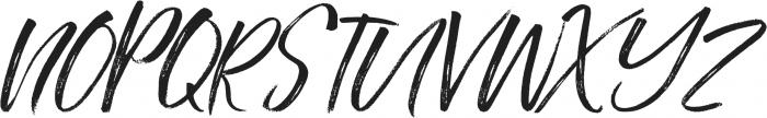 Southerner Slant otf (400) Font UPPERCASE