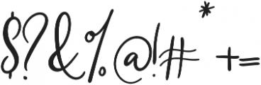 Southfall Bold otf (700) Font OTHER CHARS