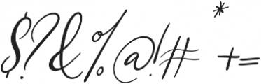 Southfall Slant otf (400) Font OTHER CHARS