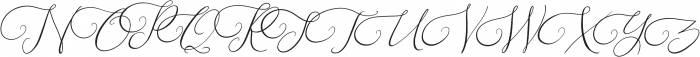 Southfall Slant otf (400) Font UPPERCASE