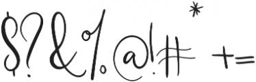 Southfall Upright otf (400) Font OTHER CHARS