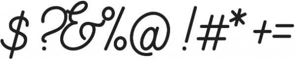 Southfilla otf (400) Font OTHER CHARS