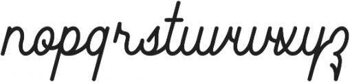 Southfilla otf (400) Font LOWERCASE