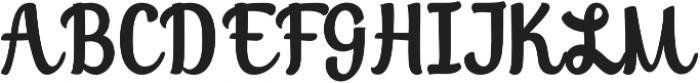 Soybeanut Brush otf (400) Font UPPERCASE