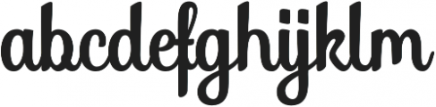 Soybeanut Brush otf (400) Font LOWERCASE