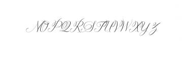 Solidaritha Script Font UPPERCASE