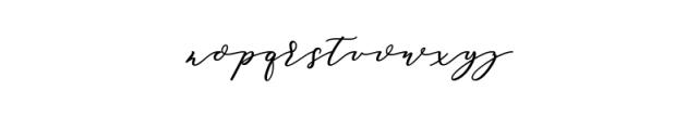 Soulmate script Bold.ttf Font LOWERCASE
