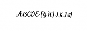 someday bold.ttf Font UPPERCASE