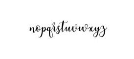 someday.ttf Font LOWERCASE