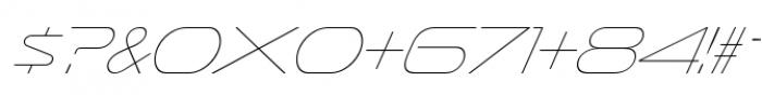 Sofachrome UltraLight Italic Font OTHER CHARS