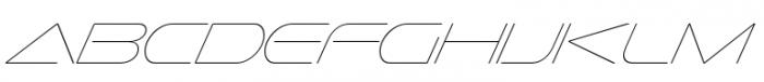 Sofachrome UltraLight Italic Font UPPERCASE