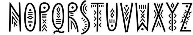 Solaris - Tribal Font Family 2 Font UPPERCASE