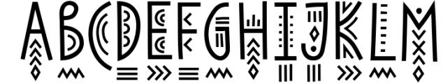 Solaris - Tribal Font Family 2 Font LOWERCASE