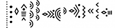 Solaris - Tribal Font Family Font UPPERCASE