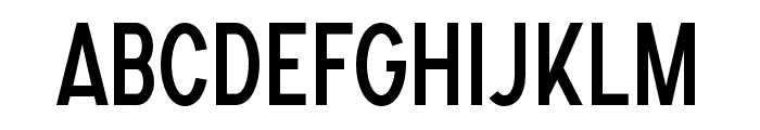 SONGERCondensed Font LOWERCASE
