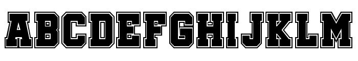Soccer League College Regular Font LOWERCASE