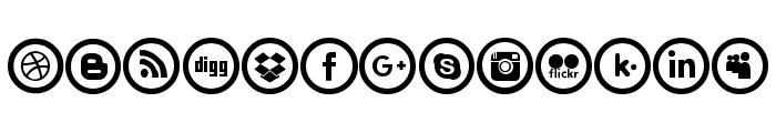 Social Circles Font UPPERCASE
