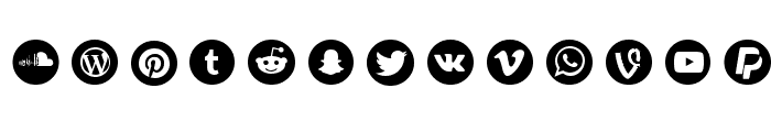 Social Circles Font LOWERCASE
