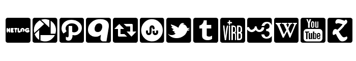 Social Icons Pro Set 1 - Rounded Font UPPERCASE