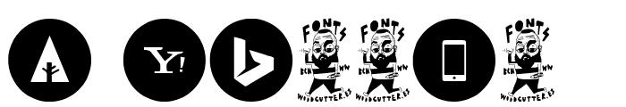 Social Media Circled Font OTHER CHARS