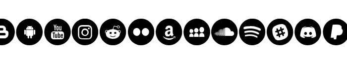 Social Media Circled Font UPPERCASE