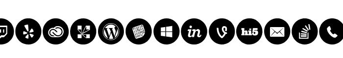 Social Media Circled Font LOWERCASE