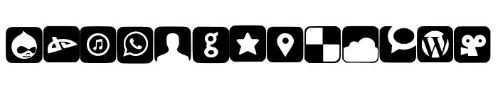 SocialNetworkingSymbols2 Font UPPERCASE