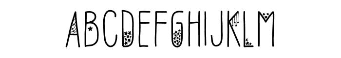 Sofia Amoti Starlight Font UPPERCASE