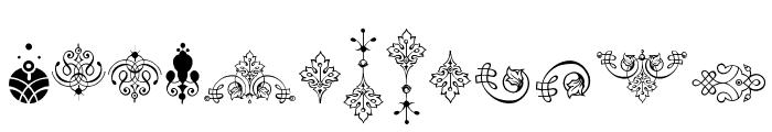 Soft Ornaments Eleven Font LOWERCASE