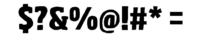 Sohoma ExtraBold Condensed Font OTHER CHARS