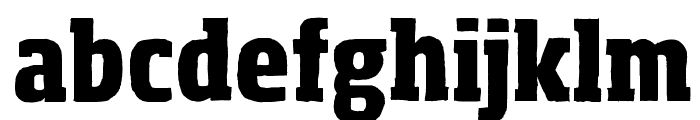 Sohoma ExtraBold Condensed Font LOWERCASE