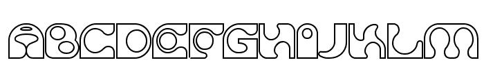 Solange seethrough Font UPPERCASE
