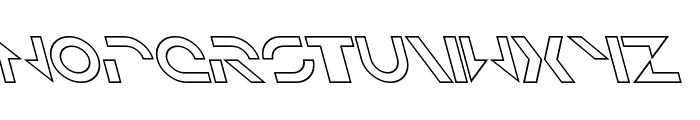 Solar Sailer Outline Italic Font LOWERCASE