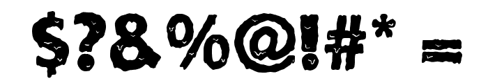 Solid Ooky Font OTHER CHARS