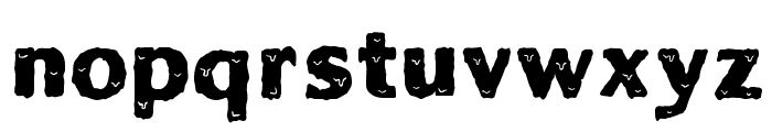Solid Ooky Font LOWERCASE