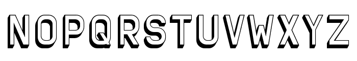 Solid Sans 3D Font UPPERCASE