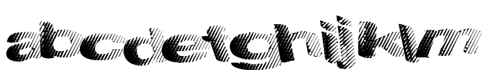 SolidWaste Font LOWERCASE