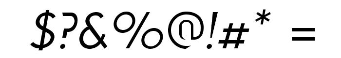 Solothurn-Oblique Font OTHER CHARS