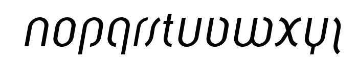 Solothurn-Oblique Font LOWERCASE