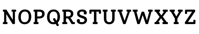 Solway Medium Font UPPERCASE