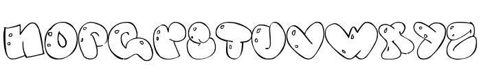 Some bubbles Font UPPERCASE