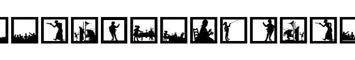 SomeNewSilhouettes Font UPPERCASE