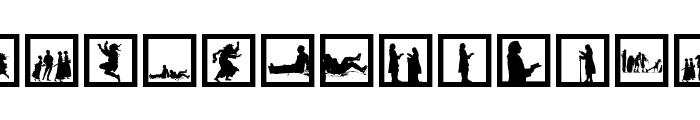 SomeNewSilhouettes Font LOWERCASE